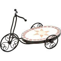 Floreira Bicicleta Com Mosaico- Preta & Marrom- 30X4Btc Decor