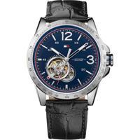 Relógio Tommy Hilfiger Masculino Couro Preto - 1791253
