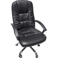 Cadeira Design- Preta & Prateada- 117X57,5X43Cm-Or Design