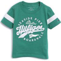 Camiseta Tommy Hilfiger Kids Menino Escrita Verde