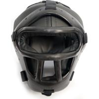 Capacete / Protetor De Cabeça Com Grade Para Artes Marciais Jugui - Preto