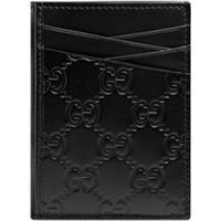 Gucci Porta-Cartões 'Gucci Signature' - Preto