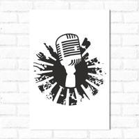 Placa Decorativa Microfone 2