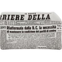 Fornasetti Bandeja Cinza Em Porcelana Modelo 'Ii Corriere Della Sera'.