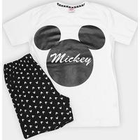 Pijama Infantil Evanilda Mickey Malha Curto Tal Filho Masculino - Masculino-Branco
