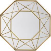 Espelho Decorativo Melissandre 36 X 36 Cm Dourado