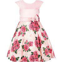 Vestido Juvenil Cattai Rosa Floral E Laço