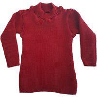 Blusa Cacharrel De Tricô Infantil 0 A 12 Vermelho.