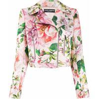 Dolce & Gabbana Jaqueta Biker Com Estampa Floral - Rosa