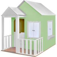 Casinha De Brinquedo Criança Feliz Com Cercado Verde/Branco - Tricae