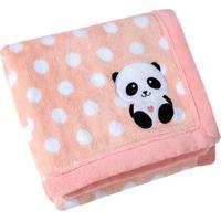 Manta Fleece Bordada Bebê Estampada Mini 76 Cm X 1,02 M Com 1 Peça - Produto Importado Lepper Rosa