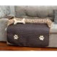 Protetor De Sofá Pet Cachorro Ou Gato Impermeável Tabaco Matelado Grande 96Cm X 88Xm X 15Cm + Almofada Ossinho