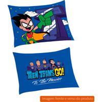 Fronha Infantil Teen Titans Go Algodão Azul