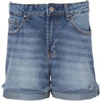 Bermuda Le Lis Blanc Classic Reta Jeans Azul Feminina (Jeans Médio, 42)