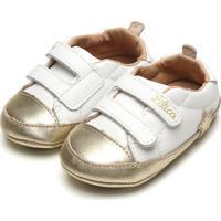 Tênis Lilica Ripilica Infantil Bicolor Branco/Dourado