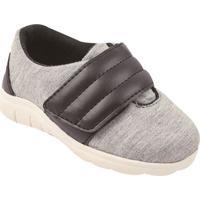 Tênis Com Velcro- Cinza & Marrombambini