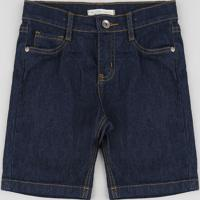 Bermuda Jeans Infantil Reta Azul Escuro