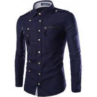 Camisa Casual Street - Azul