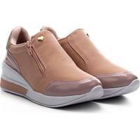 Tênis Infantil Joy'S Sneaker Calce Fácil - Feminino-Rosa