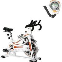 Bike Spinning Oneal Tp1100 Semi Profissional + Cronômetro Digital Com Alarme Liveup - Unissex
