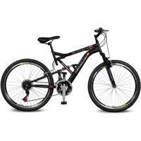 Bicicleta Kyklos Aro 26 Caballu 7.8 Suspensáo Full Baixa A-36 21V Preto/Vermelho - Tricae