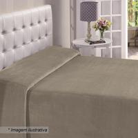 Manta Flanel King Size- Bege Escuro- 220X240Cm- Buettner