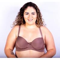 Sutiã Bojo Plus Size Gatria Reforçado Satin Feminino - Feminino-Marrom