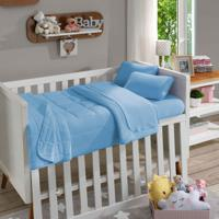 Manta Infantil Soft Baby Lisa Azul Bebê - Sbx Têxtil