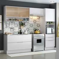 Cozinha Completa Linear 6 Pt 3 Gv Branco