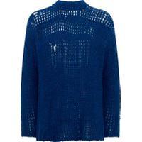 Blusa Masculina Tricot Maxi Desconstruído - Azul