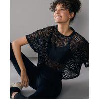 Amaro Feminino Camiseta Cropped Com Textura, Preto