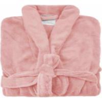 Roupão De Banho Microfibra Soft Camesa Rosa - Tamanhos