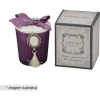 Vela Scented Candle Com Pingente- Roxo Escuro & Branca