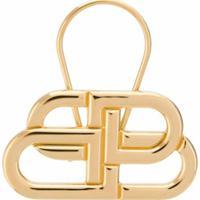 Balenciaga Chaveiro Com Logo Bb - Dourado