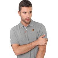 Camisa Polo Nike Reta Heritage Stndr Cinza