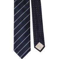 Prada Gravata De Seda Com Listras - Azul