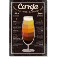 Placa Decorativa Tipos De Cerveja Preto Geguton