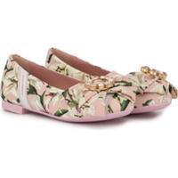 Dolce & Gabbana Kids Sapatilha Com Estampa Floral - Rosa