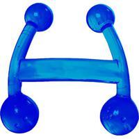 Massageador Manual Com 4 Esferas- Azul- 10X10X4,8Cm