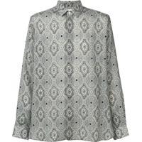 Saint Laurent Camisa Com Estampa Paisley - Cinza
