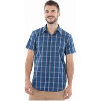 Camisa Masculina Xadrez Azul Polo Wear 136925 Azul