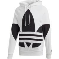 Blusão Adidas Bg Trefoil Hood Originals Branco