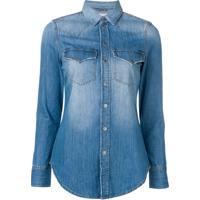 Diesel Camisa Jeans Western - Azul