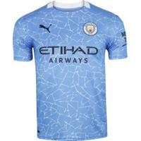 Camisa Manchester City I 20/21 Puma - Masculina - Azul/Azul Esc