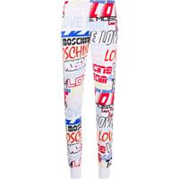 Love Moschino Legging Com Logo - Branco