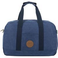 Bolsa De Viagem It!S Canvas- Azul Marinho & Marrom Claroswiss Move