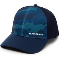 Boné Silicone Bark Trucker Print 2.0 Oakley