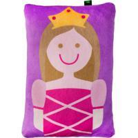 Travesseiro Princesa- Roxo & Pink- 5X28X19Cm- Brbright Starts