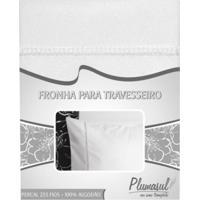 Fronha-Percal 233 Fios-Branca-Ponto Palito-50X150
