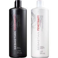 Kit Penetraitt Profissional Sebastian - Shampoo + Condicionador - Unissex-Incolor